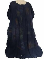 Geblümte knielange Damenkleider im Tuniken-Stil mit Rundhals-Ausschnitt
