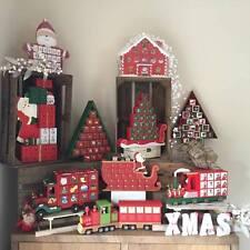Traditional Wooden Christmas Advent Calendar, Reusable Xmas decoration, Gift.