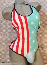 "Crossdress Men Stars & Stripes Monokini Swimsuit Sissy Pouch Panty XL 40"" to 46"""