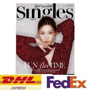 Singles KOREA 2021 August Magazine Book Photo SUNMI XIUMIN THE BOYZ IZ*ONE K-POP