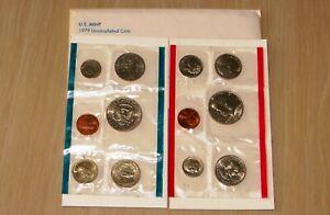 US 1979  PD Uncirculated Mint Set U11-3 With 2 Susan B Anthony Dollars Nice set
