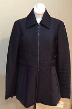 Anne Klein Black Quilted Coat Jacket Women's Medium