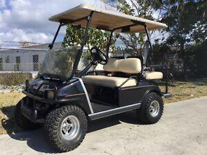 "2003 lifted Club car Ds 4 Passenger seat Golf Cart 48 volt 48v 12"" rims longtop"