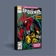 SPIDERMAN COMIC COVERS SERIES AWESOME ICONIC CANVAS ART PRINT Art Williams