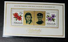 Isole (Isole Cook): 1973 MATRIMONIO REALE: UMM Minisheet (No1711)