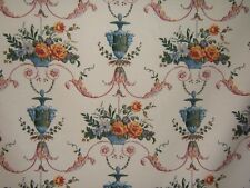 """Brunschwig & Fils """"Suffield Arabesque"""" romantic urns with flowers color yellow"""