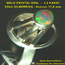 Welo Opal 1.2 Karat 950er Silberring Größe 17,8 mm