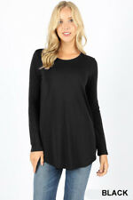 Women's Casual Long Sleeve Perfect Fit Tunic Top T-Shirt Soft Blouse Plus Reg