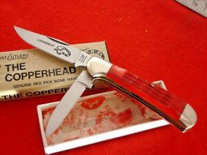"""Frost Japan Bone 3.5"""" THE COPPERHEAD Trick Lock Blade Knife MINT IN BOX"""