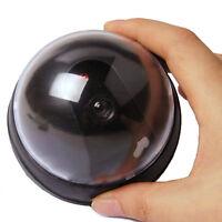 Schwarz Überwachungskamera Attrappe Speed Dome Dummy Fake Cam IR LED CCTV DE~