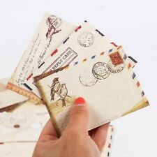 Vintage Kraft Paper Envelopes Retro Sealable Paper Cute Stationary Gift 12pcs