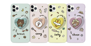 LINEFRIENDS Lovely Series Grip Hard Case Official Product Heart Grip + Hard Case