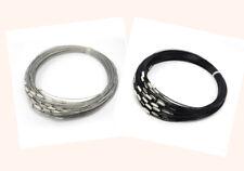 3Stück Halsreif Stahl mit Drehverschluss 44cm #5081 silber + schwarz