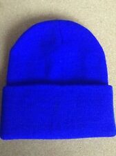 Men's Women Beanie Knit Ski Cap Hip-Hop ROYAL BLUE Winter Warm Unisex Hat