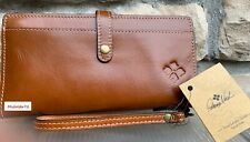 New Listing Patricia Nash Nwt Pitelli Wristlet Italian Leather Vegetable Dyed Tan Msrp $79