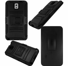Rugged Hybrid Shockproof Hard Holster Case Cover For Samsung Galaxy Note III 3