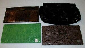Lot of 4 New Miche Classic Shells Ebony Green Snake Alligator Brown Black Shiny