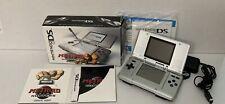 Nintendo DS Silver System Metroid Prime Hunters Complete In Box, CIB