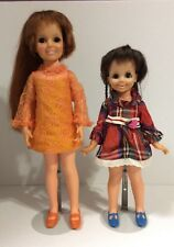 Vintage 1971 Chrissy & Mia Dolls With Hair That Grows!