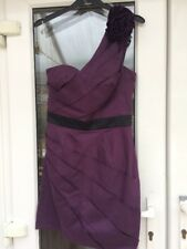 BNWT Lipsy Purple One Shoulder Bodycon Dress Size 8