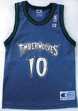 Vtg NBA Jersey WALLY SZCZERBIAK MINNESOTA TIMBERWOLVES Boys M throwback garnett
