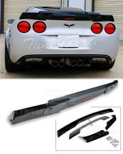 05-13 Corvette C6 | Rear Spoiler C6.5 style GLOSSY BLACK Smoke Tinted Wickerbill