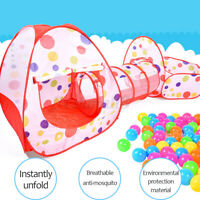 3 In 1 Foldable Baby Playhouse Fence Playing Tent Balls Pool Tunnel Kids Outdoor