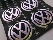 Wheel Cap Metal Aluminium Stickers 4x60mm Fits on Alloy Centre Hub