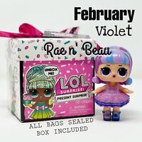 LOL Surprise Present February Violet Big Sister Doll Birthday Gift Box Sealed