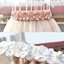 Women Girl Flowers Elastic Waist Band Stretch Waistband Belt For Longuette Skirt