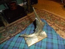 "Vintage BRONZE/POT METAL MARLIN Sculpture 8 1/2"" Tall Nautical Decor"