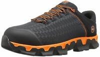 Timberland Mens Pro Steel toe Lace Up Safety, Black Synthetic/Orange, Size 14.0