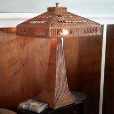 Antique Arts & Crafts Heywood-Wakefield Type Wicker Table Lamp circa 1910