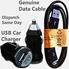 2 in 1 Car Charger + Genuine USB Data Cable For Nokia Lumia 520 630 830 930 1020