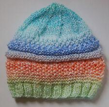 Sombreros 3pk 5-7lbs pequeño bebé prematuro chicas chicos Tejido a Mano Rosa Azul Blanco