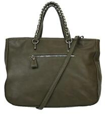 CARLOS by Carlos Santana Sonrisa Womens Tote Synthetic Leather Purse OLIVE A1472