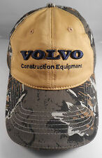 Volvo Contruction Equipment Camo Ball Cap with muted Yellow front panel