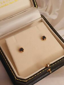 18ct Gold Fancy Sapphire Stud Earrings
