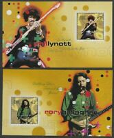 Ireland-Rock Legends miniature sheets mnh  Phil Lynott-U2-Music- Morrison