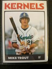 Mike Trout RC Minor League Rookie Card # 28 Cedar Rapids Kernels Angels Baseball
