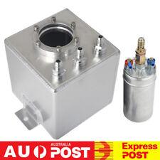 Universal 2L Aluminum High Flow Fuel Surge Tank 6AN With 044 External Fuel Pump
