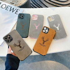 Case For iPhone 12 Pro Max 11 Xs Xr X 8 7 Se Pu Leather Silicone Elk Soft Cover