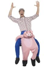 Piggyback Pig Costume Adult Mens Womens Farm Ride On Fancy Dress Outfit