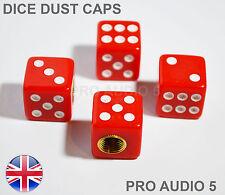 Dés rouges Valve poussière Caps-Universel Voiture Fourgon-UK