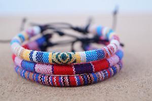 3x Fußband Made by Nami Fußkettchen Fußbändchen Boho Hippie verstellbar