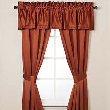 Nicole Miller Panel Curtains Drapes Modern Opulence Drapery 4 Pc.Set Crimson NEW