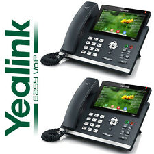 """Yealink 2 Pack Set SIP-T48G Color 7"""" Touch Gigabit IP Phone 16 Line VoIP Office"""