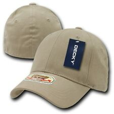 Khaki Solid Blank Plain Flex Curved Baseball Ball Fit Fitted Cap Caps Hat - S/M