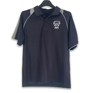 AFL GEELONG CATS BLACK POLO TOP SIZE LARGE