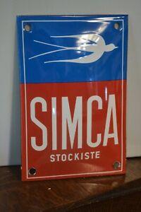 Plaque émaillée SIMCA 10*15 cm